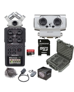 Zoom H6 Portable Handheld Recorder + EXH6 Dual XLR/TRS, Accessory Pack, SKB Case