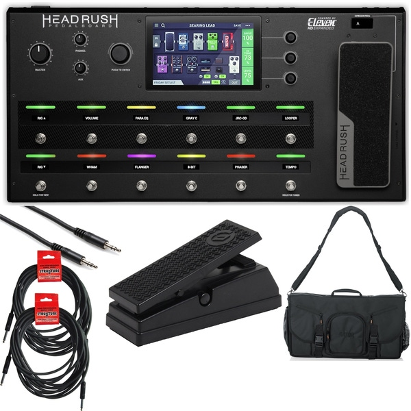Headrush Pedalboard - Guitar Multi-Effects Processor Complete Bundle