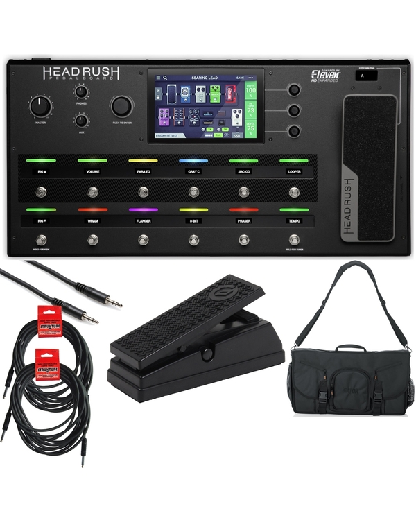 HeadRush Pedalboard - Guitar Multi-Effects Processor Complete Bundle