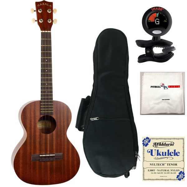 Kala MK-T Makala Tenor Ukulele with Gig Bag, Tuner, Strings, and Cloth