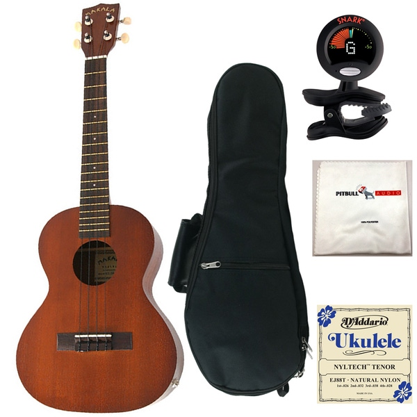 Kala MK-TE Tenor Acoustic-Electric Ukulele with Gig Bag, Tuner, Strings, and Cloth