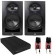 Kali Audio LP-6 Lone Pine 6.5-Inch Active 40w + 40w Studio Recording Monitor Speaker (Pair) w/ Iso Pads and Cables