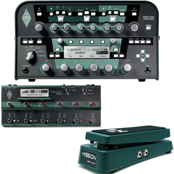 Kemper Profiler Power Amplifier Head + Remote + Mission Engineering Expression Pedal