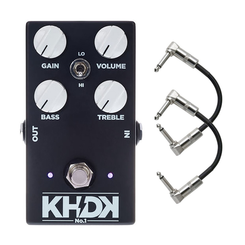 KHDK NO1 (Version 1) Kirk Hammett Overdrive Guitar Effect Pedal with Patch Cables