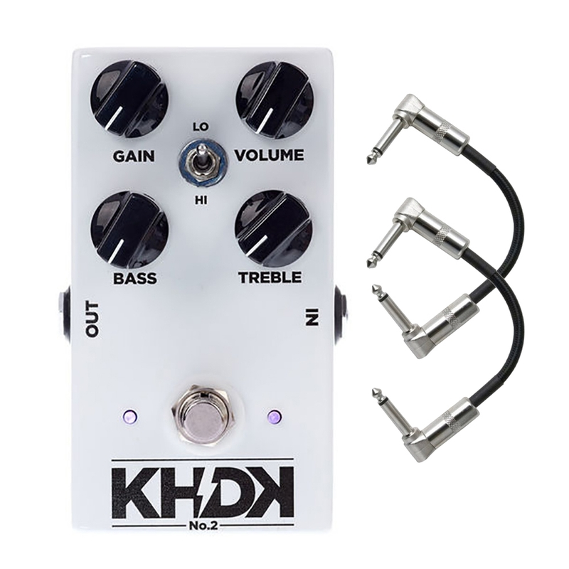 KHDK NO2 (Version 2) Kirk Hammett Clean Boost Guitar Effect Pedal with Patch Cables