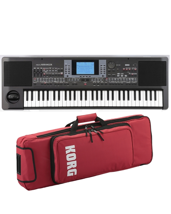 Korg Micro Arranger 61-Key Keyboard with Red Soft Case
