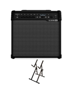 Line 6 Spider V 60 Modeling Combo Guitar Amplifier with Ultimate Support Amp Stand