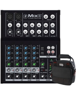 Mackie Mix8 8-Channel Compact Mixer with Gator G-MIXERBAG-0909 Mixer/Equipment Bag