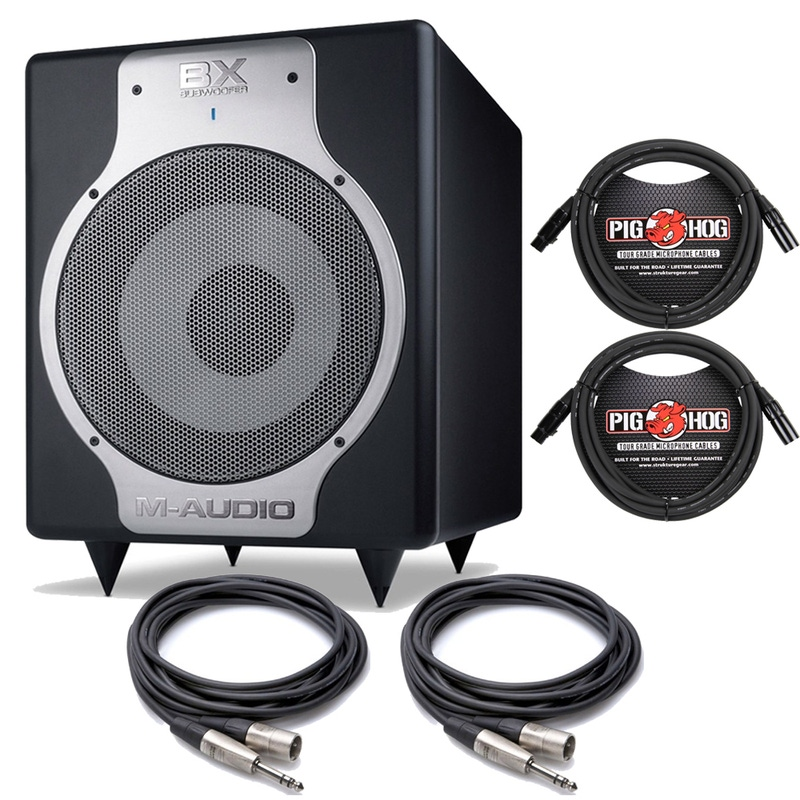 "M-Audio BX 240W 10"" Active Powered Subwoofer and Cables"