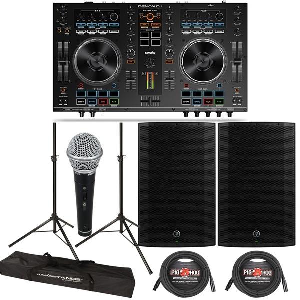 Denon DJ MC4000 DJ Player & Controller + Mackie Thump 15A 1300W 15