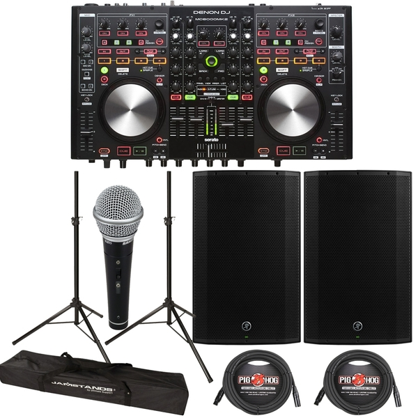Denon DJ MC6000 MK2 DJ Player & Controller + Mackie Thump 15A 1300W 15
