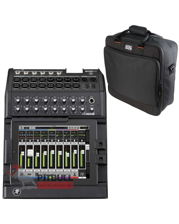 Mackie DL1608 16-Channel Digital Mixer (Lightning) with Gator Mixer Bag