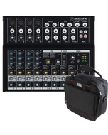 Mackie Mix12FX 12-Channel Compact Mixer with Gator Mixer Bag