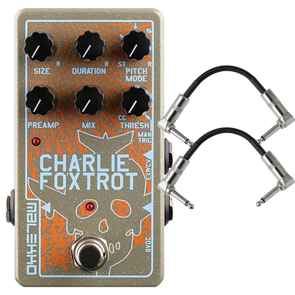 Malekko Heavy Industry Corporation Charlie Foxtrot Digital Buffer/Granular Guitar Effects Pedal with Patch Cables