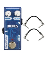 Malekko Heavy Industry Corporation Chorus Omicron Series Analog Chorus Guitar Effects Pedal with Patch Cables
