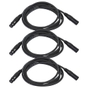 3-Pack of Monoprice 601603 3 Meter (10ft) 3-pin DMX Lighting & AES/EBU Cables