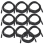 10-Pack of Monoprice 601606 6 Meter (20ft) 3-pin DMX Lighting & AES/EBU Cables