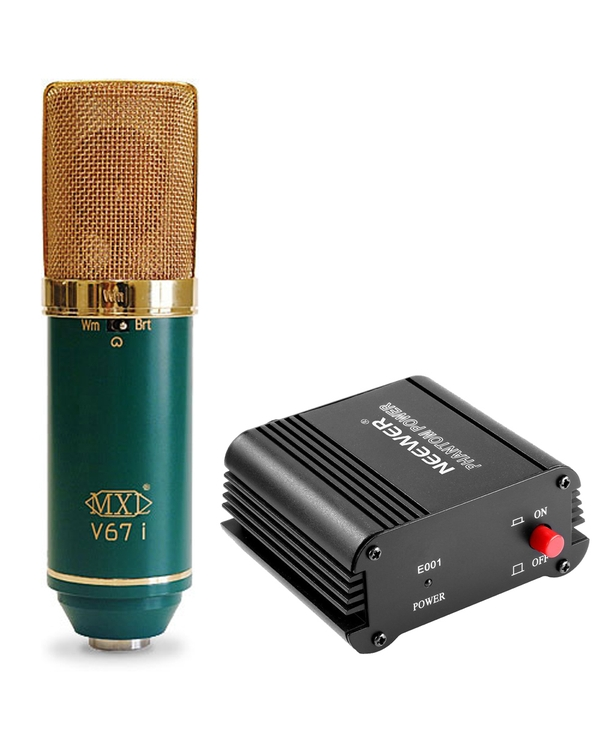 MXL V67i Microphone with 48V Phantom Power Power Supply, and Cable