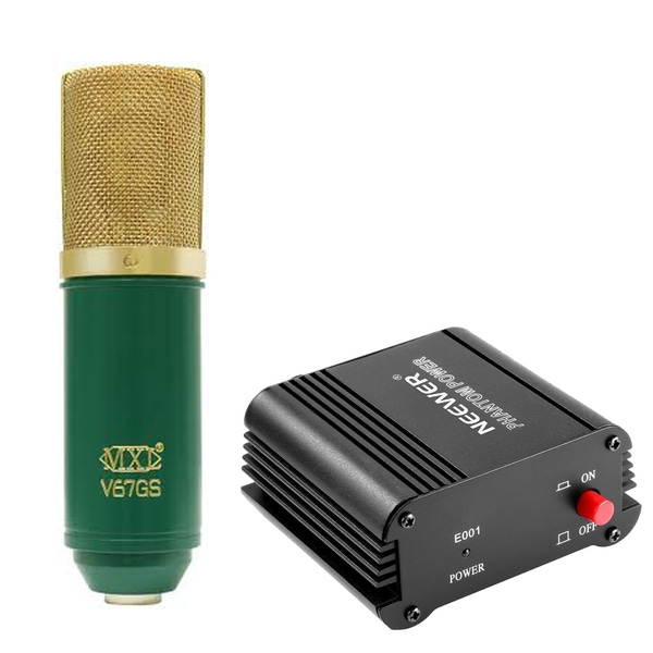 MXL V67GS Microphone with 48V Phantom Power Supply and Cable