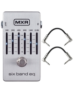 MXR M109S 6-Band Graphic EQ Guitar Effects Pedal with Patch Cables