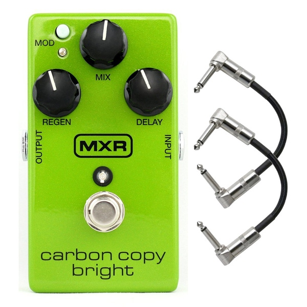 MXR M269SE Carbon Copy Bright Analog Delay Guitar Effect Pedal with Patch Cables