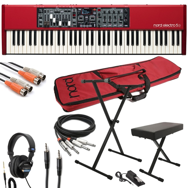 Nord Electro 5D 73 Stage Piano with Gig Bag, Stand, Bench, Sustain Pedal, Cable Kit, and Headphones