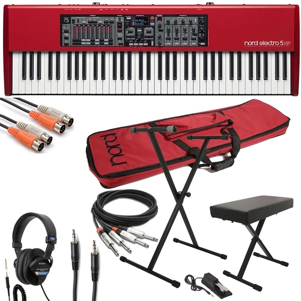 Nord Electro 5 HP 73-key Stage Piano with Gig Bag, Stand, Bench, Sustain Pedal, Cable Kit, and Headphones