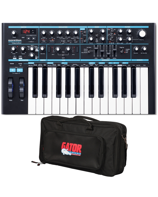 Novation Bass Station II Monophonic Analog Synthesizer and Carry Bag