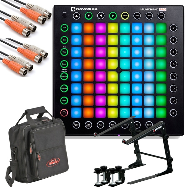 Novation Launchpad Pro USB MIDI Controller with Stand, Cables, and Carry Bag