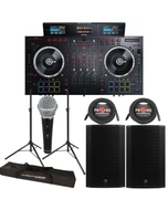 "Numark NS7III Serato DJ Controller + Mackie Thump 15A 1300W 15"" Powered Speakers"