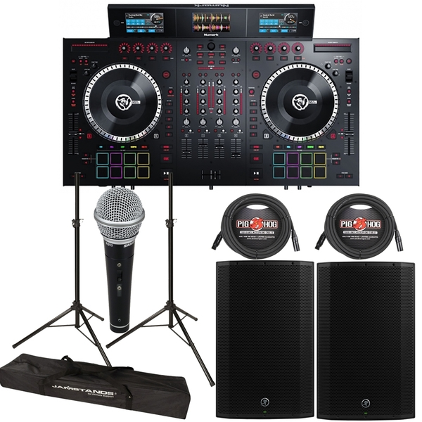 Numark NS7III Serato DJ Controller + Mackie Thump 15A 1300W 15