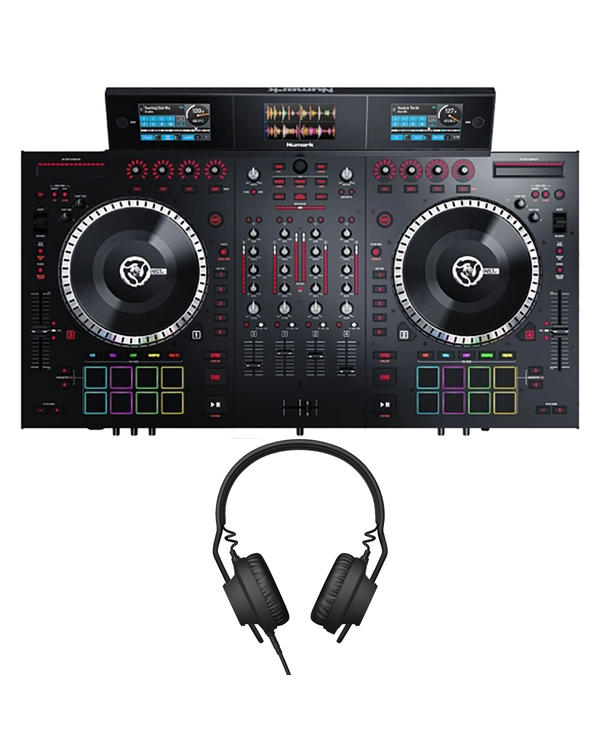 Numark NS7III 4-Channel DJ Performance Controller with Aiaiai TMA2 DJ Headphones