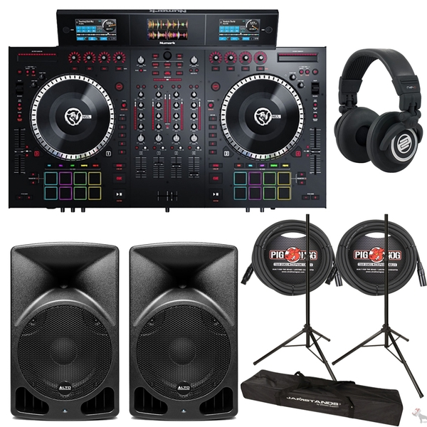 Numark NS7III 4-Channel Controller Bundle with 10