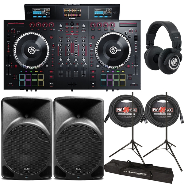 Numark NS7III 4-Channel Controller Bundle with 12