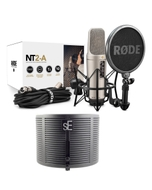 Rode NT2-A Condenser Microphone with sE Electronics RF-X Reflexion Filter X