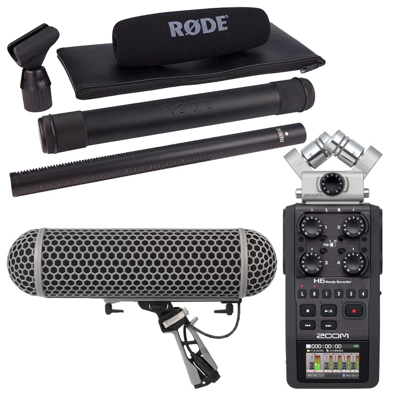 Rode NTG-3 Shotgun Microphone with Zoom H6 Handy Recorder and Blimp Wind Shield/Shock Mount