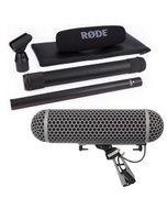 Rode NTG-3 Broadcast Grade Shotgun Microphone (Black) and Blimp Wind Shield/Shock Mount System Package