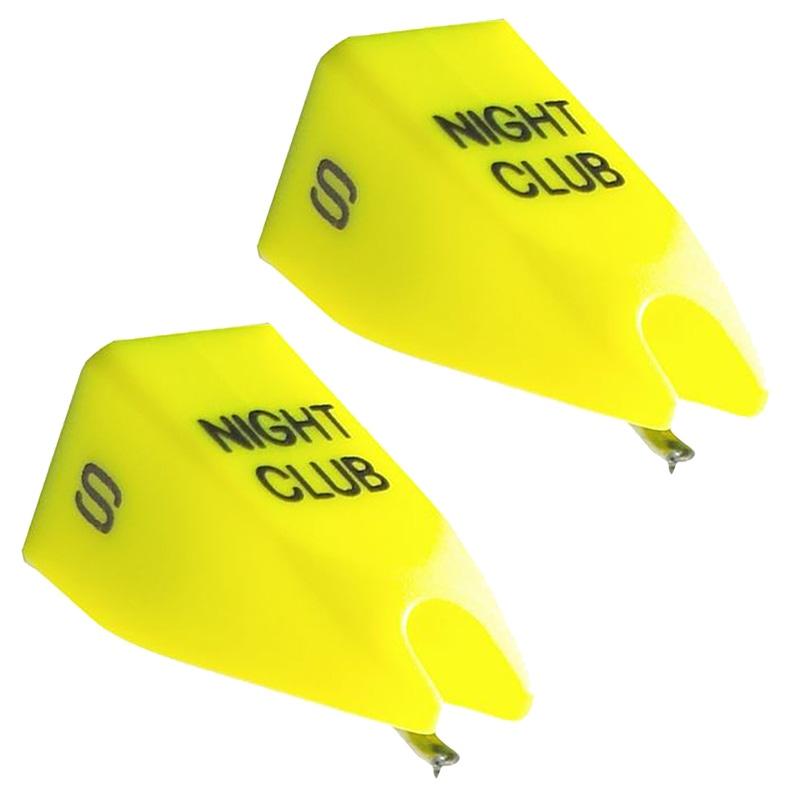 2-Pack of Ortofon Night Club Spherical Replacement Stylus Yellow