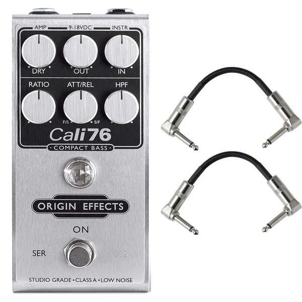 Origin Effects 76-CB Cali76 Compact Bass Compressor Guitar Effects Pedal with Patch Cables