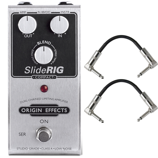 Origin Effects SR-C SlideRIG Compact Compressor Guitar Effects Pedal with Patch Cables