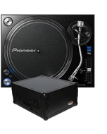Pioneer PLX-1000 Direct Drive DJ Turntable with ATA Road Case Bundle