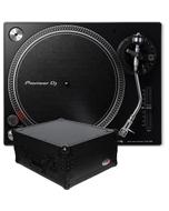 Pioneer PLX-500-K Black Turntable with ATA Road Case Bundle