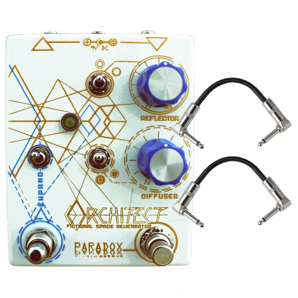 Paradox Architect Space Reverb Guitar Effects Pedal with Patch Cables