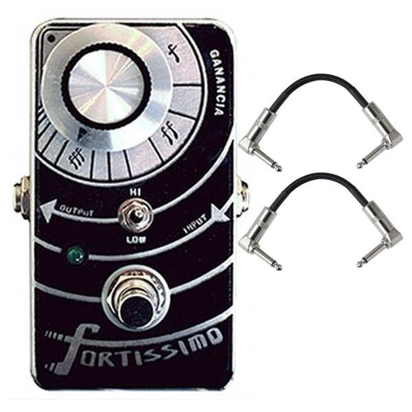 Paradox Fortissimo Boost/Overdrive Guitar Effects Pedal with Patch Cables
