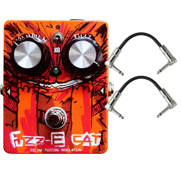 Paradox Fuzz-E Cat Fuzz/Modulation Guitar Effects Pedal with Patch Cables