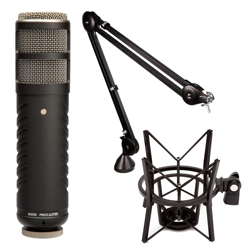 Rode Procaster Dynamic Vocal Broadcast Microphone with PSA1 Arm and PSM1 Shock Mount