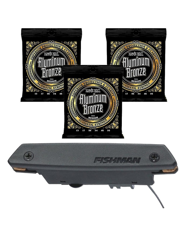 Fishman Rare Earth Humbucking Pickup with EB 2564 Medium Guitar Strings