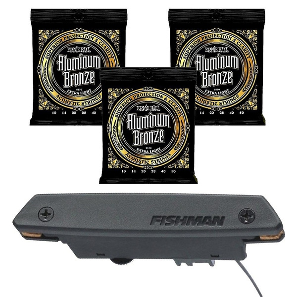 Fishman Rare Earth Humbucking Pickup with EB 2570 Extra Light Guitar Strings