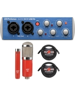 PreSonus AudioBox USB 96 USB Recording Interface with MXL Microphone Set and XLR Cables