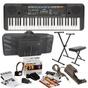 Yamaha PSR-E253 61-Key Keyboard with Survival Kit, Stand, Bench, & Gig Bag
